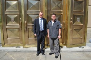 John Carpay and Darcy Allen at at Calgary courthouse July 2012